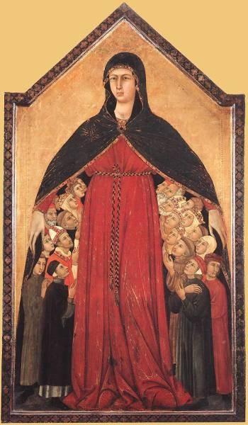 SIMONE MARTINI Madonna Of Mercy